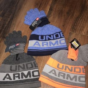 Under Armour Accessories - Under Armour boys hat glove sets 4-6 years new 4881f08e4c5